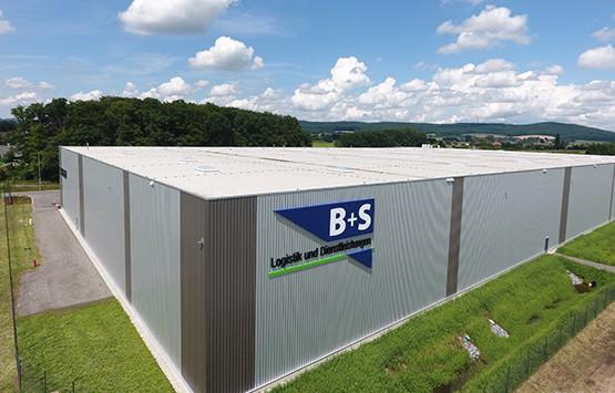 Die Unternehmenszentrale des Logistikdienstleisters B+S in Borgholzhausen.