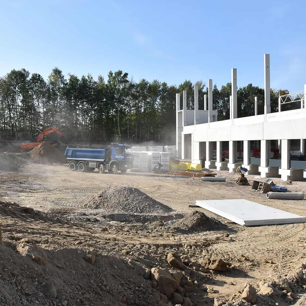 B+S baut für seine Kunden neue Standorte. | B+S builds new facilities for its customers.