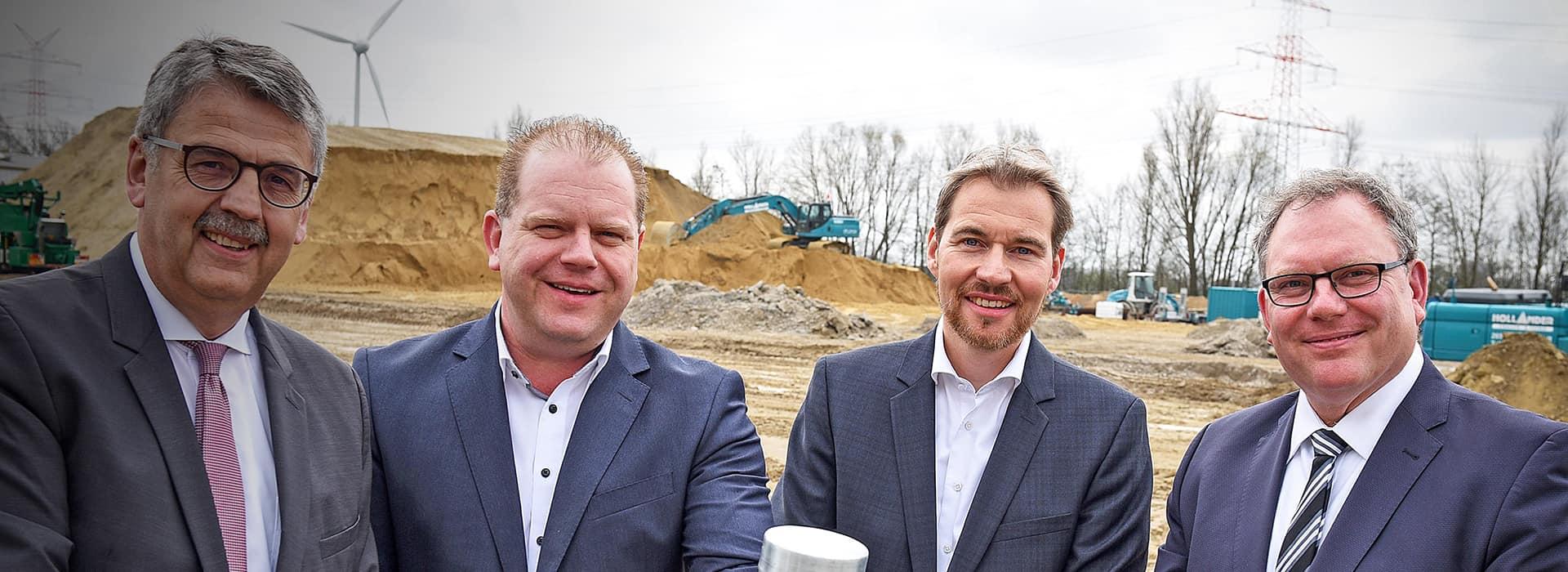 Grundsteinlegung in Bremen - ein neuer moderner Logistikneubau für zahlreiche Dienstleistungen von B+S.