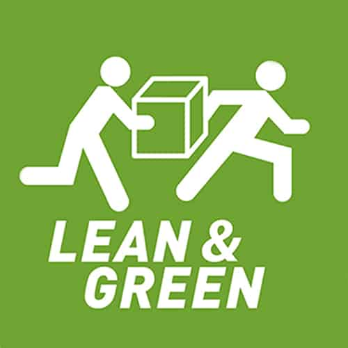 Für unseren Aktionsplan zur Reduzierung von CO2-Emmissionen wurden wir mit dem Lean and Green Award ausgezeichnet. | We were presented with the Lean and Green Award for our action plan to reduce CO2 emissions.