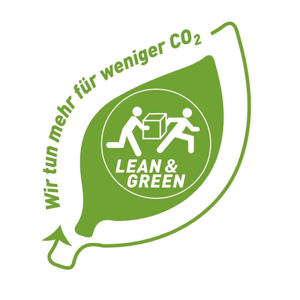 Für unseren Aktionsplan zur Reduzierung von CO2-Emmissionen wurden wir mit dem Lean and Green Award ausgezeichnet. | We were presented with the Lean and Green Award for our action plan to reduce CO2 emissions.