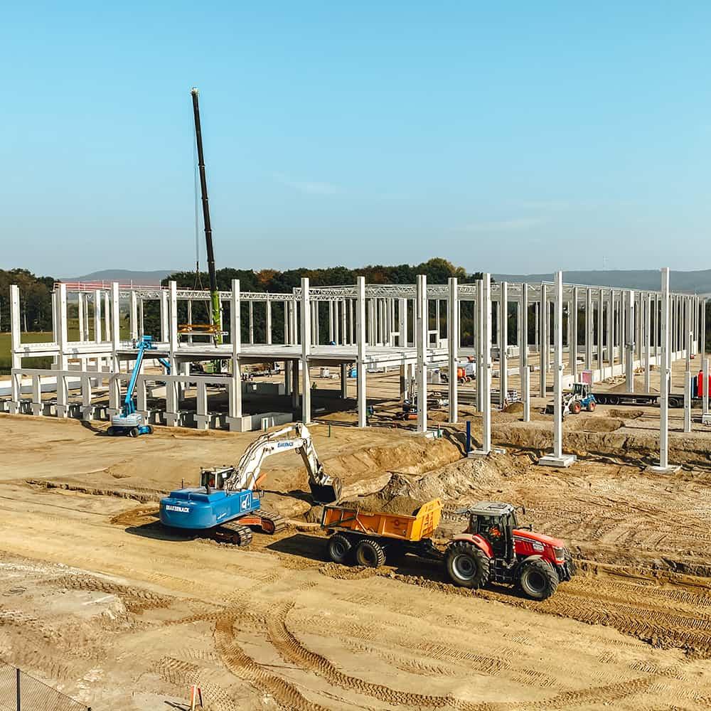 Schnelle Abwicklung und höchste Qualität: Standorterschließung von B+S. | A fast turnaround and outstanding quality: site development by B+S.