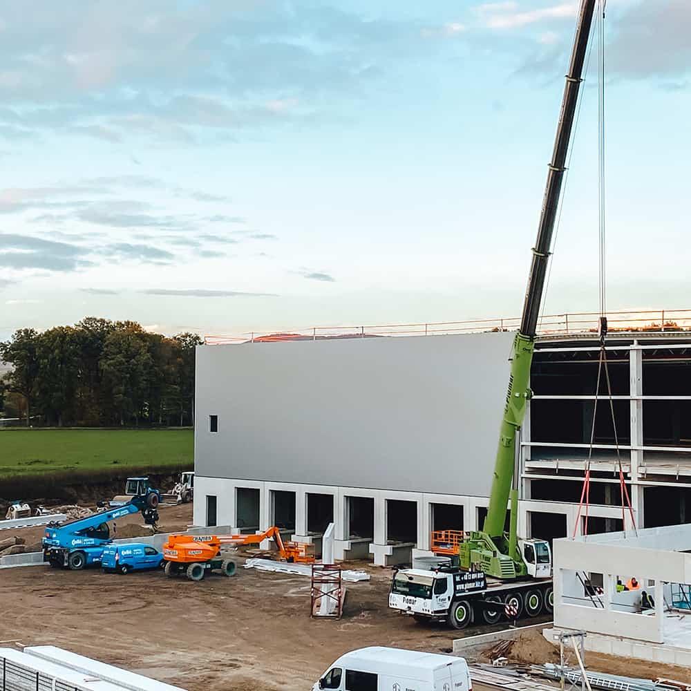 Schnelle Abwicklung und höchste Qualität: Standorterschließung von B+S.   A fast turnaround and outstanding quality: site development by B+S.
